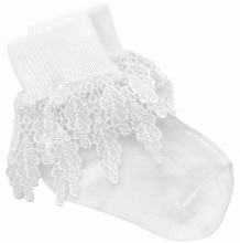 Girls White Guipure Lace Socks